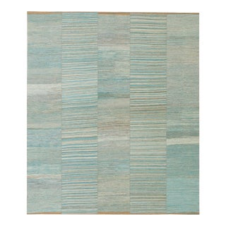 20th Century Vintage Persian Kilim Composition Rug- 10′3″ × 12′ For Sale