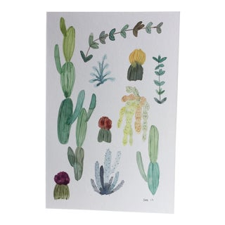 Original Cactus & Succulents Watercolor Painting
