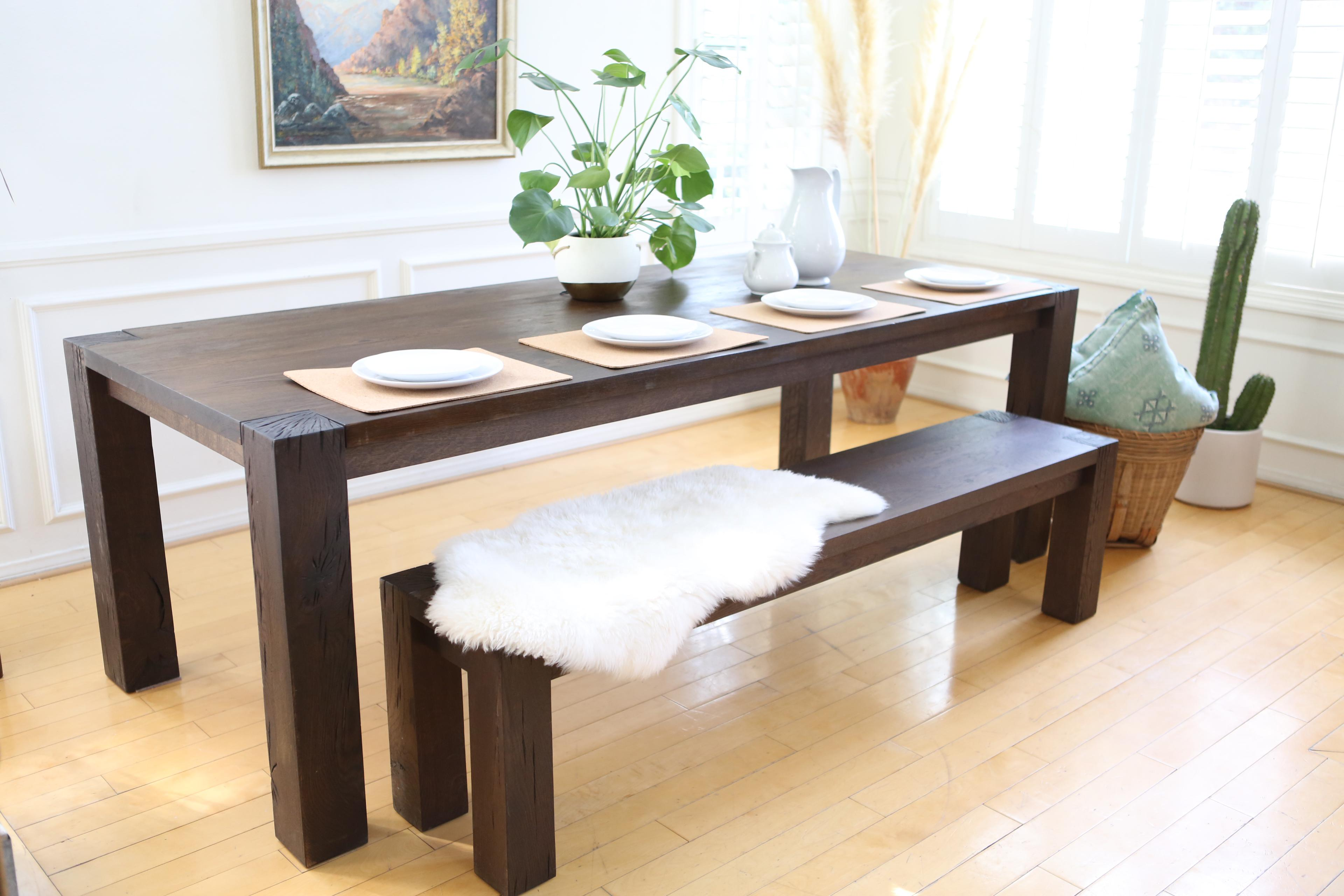 Crate U0026 Barrel Big Sur Dining Table With Bench   Image 3 ...