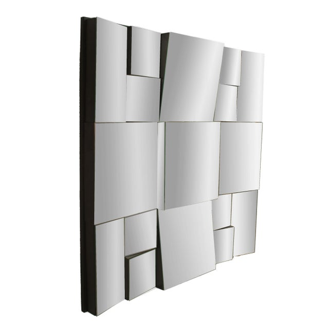 Modern Cubist Design Neal Small Multi-Faced Wall Mirror For Sale - Image 4 of 4