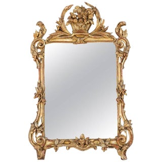 18th Century French Regency Giltwood Frame Mirror For Sale