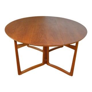 Peter Hvidt and Orla Molgaard-Nielsen for France & Sons Danish Teak Drop Leaf Dining Table