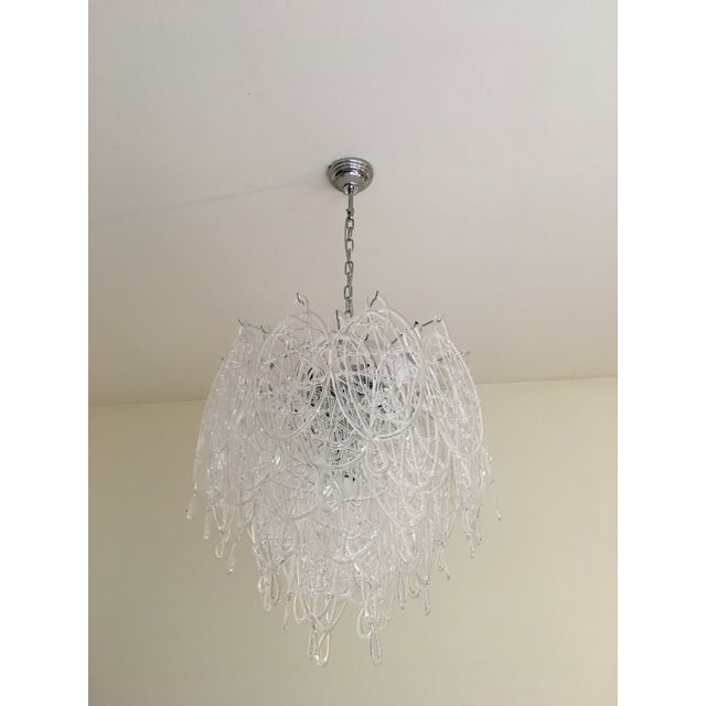 Transparent Contemporary Murano Glass Triedo Sputnik Chandelier For Sale - Image 8 of 8