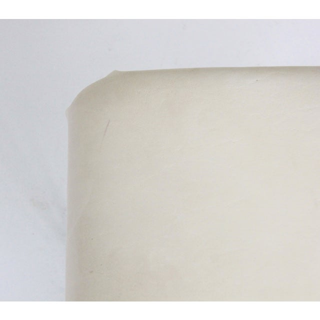 White Vintage Lucite and Leather Rolling Stool For Sale - Image 8 of 9