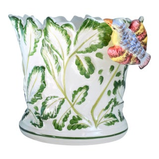 Vintage Tiffany & Co. Italian Majolica Cache Pot For Sale