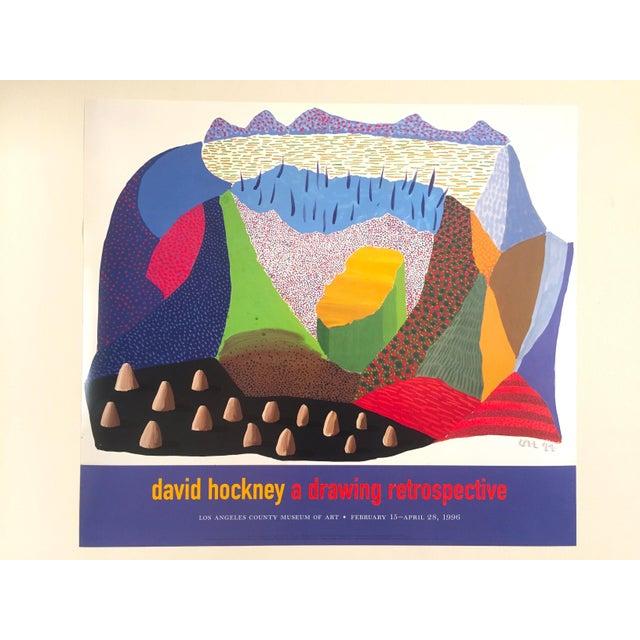 Vintage 1996 David Hockney Original Lithograph Lacma Exhibition Pop Art Poster - Image 11 of 11