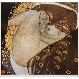 "1964 Gustav Klimt ""Danaë"", Vintage Photogravure From Argentina For Sale"