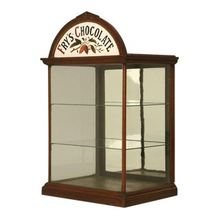 c.1890 Original English J.S. Fry & Sons, Ltd Chocolate Cabinet For Sale