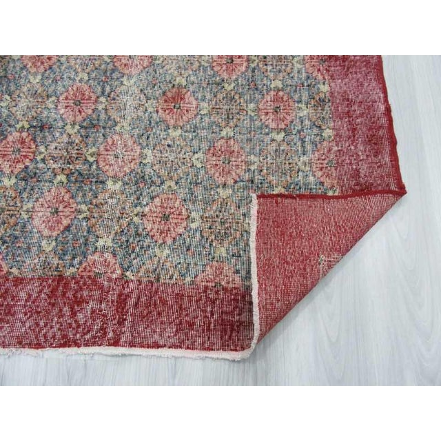 Vintage Turkish Art Deco Hand-Knotted Rug - 4′9″ × 8′ For Sale In Los Angeles - Image 6 of 6