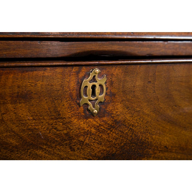English Mahogany Antique Chest With Brush Slide Circa 1880 For Sale In New York - Image 6 of 11