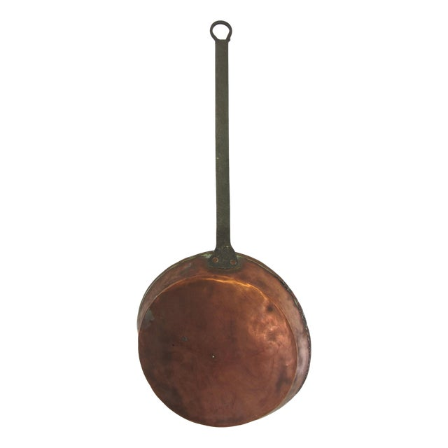 Antique French Copper Skillet - Image 1 of 9
