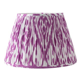 "Pointed Ikat in Purple 18"" Lamp Shade, Purple For Sale"