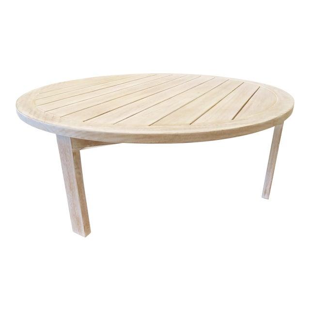Custom Teak Coffee Table - Image 1 of 5