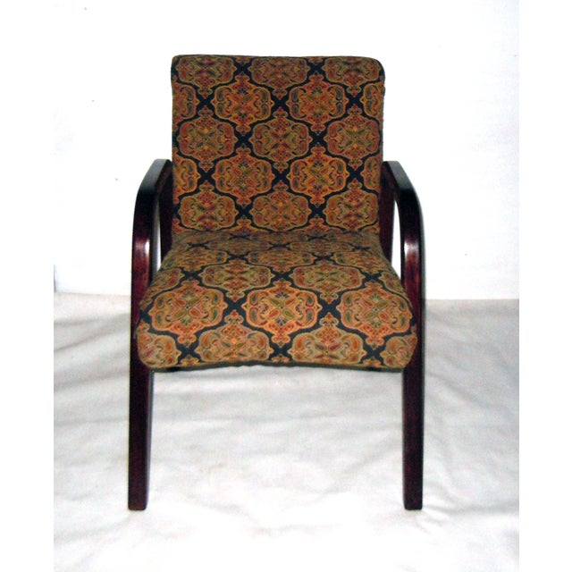 Cherry Wood Mid-Century Armchairs - A Pair - Image 4 of 7