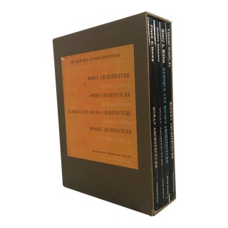 "1960s Mid-Century Modern ""The Great Ages of World Architecture"" Boxed Set of 4 Books"