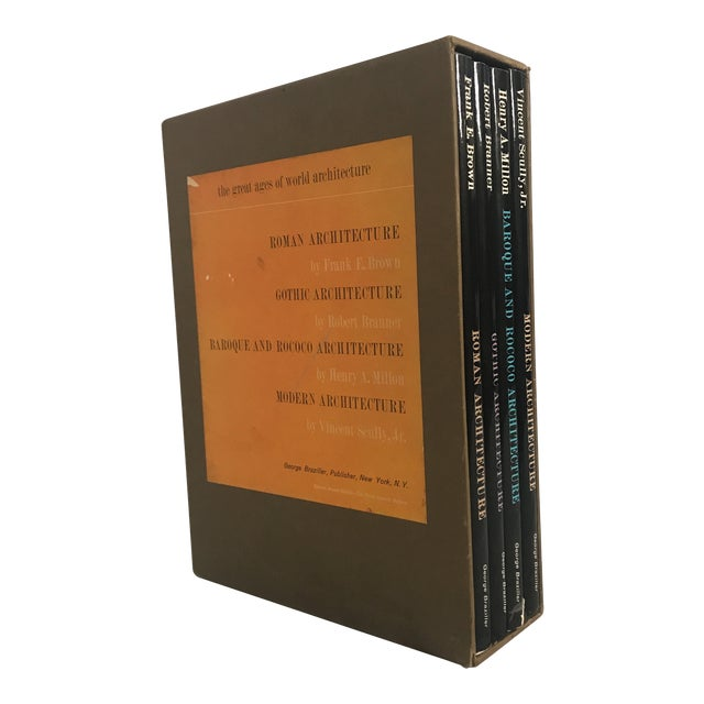 """""""The Great Ages of World Architecture"""" 1961 Boxed Set of 4 Books For Sale"""