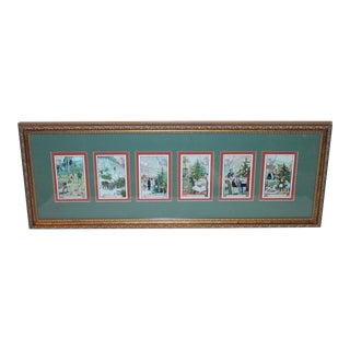 """Late 19th Century French """"Liebig's Extract of Meat Company"""" Framed Trade Sign post Cards For Sale"""