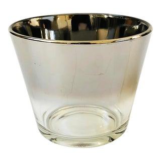 Mid Century Silver Fade Ice Bucket For Sale