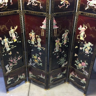Chinese Export Four Panel Coromandel Folding Screen Preview