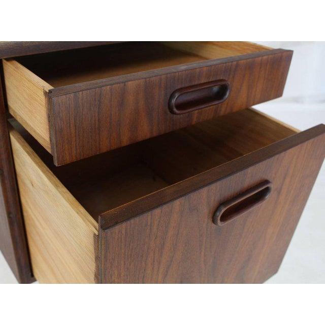Mid-Century Modern Medium Small Danish Mid-Century Modern Oiled Walnut Desk With Slate Top For Sale - Image 3 of 11