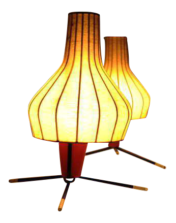 Wonderful Superior Pair Of Swiss 1950u0027s Table Lamps By Bag Turgi Switzerland | DECASO