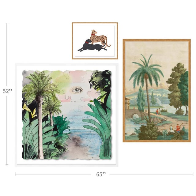 With the purchase of this item, you will be receiving the following prints, framed and ready to hang: 1. China Palm by...