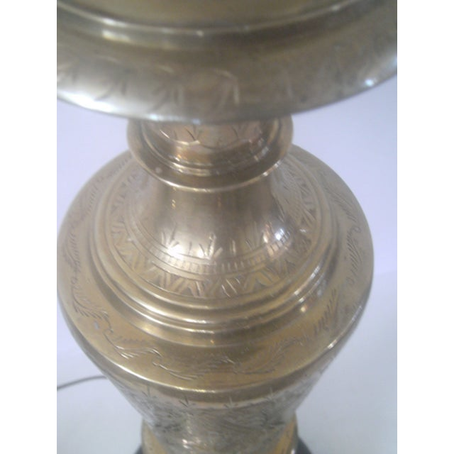 Vintage Brass Jardiniere Lamp For Sale - Image 5 of 8