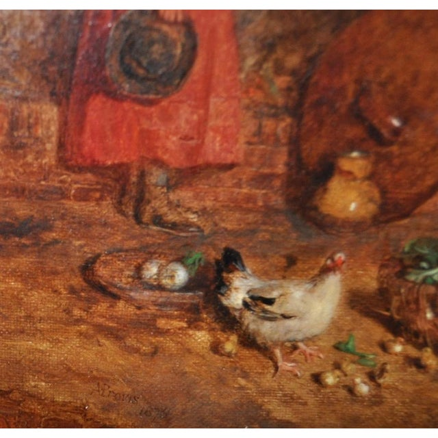 """Alfred Provis """"Young Domestic"""" Original Oil Painting - Image 8 of 10"""