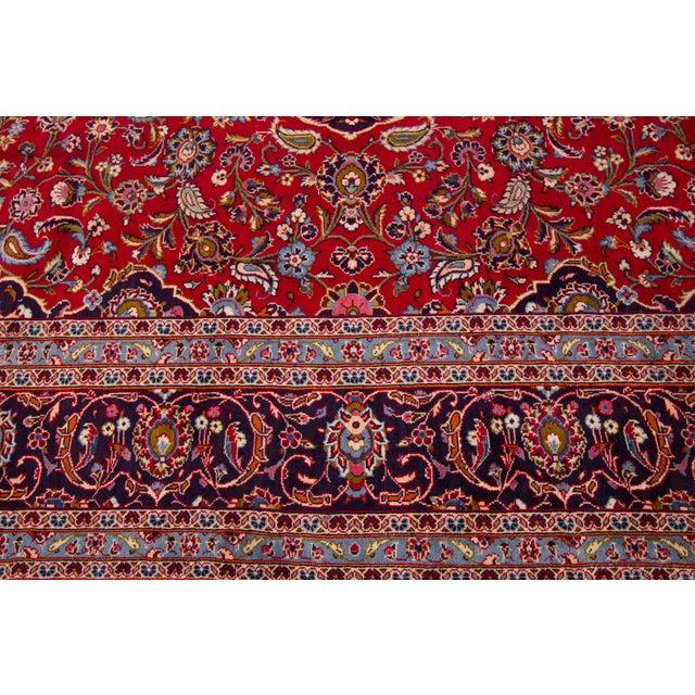 """Vintage Persian Kashan Rug, 9'07"""" X 13'00"""" For Sale - Image 9 of 10"""