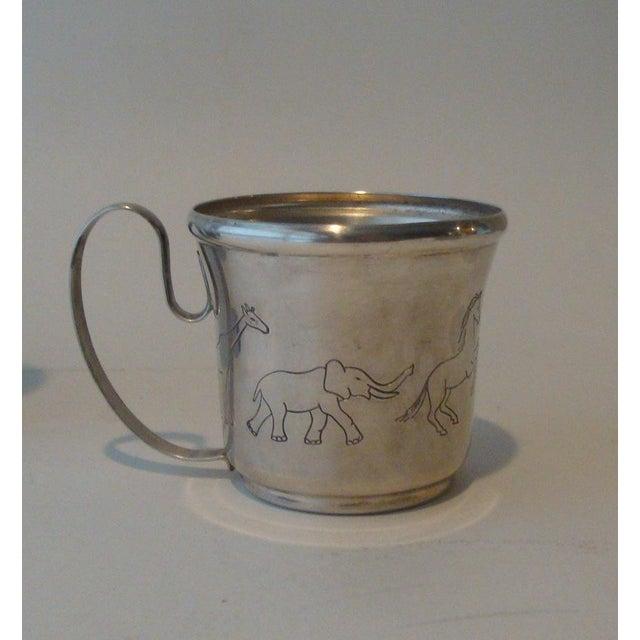 Children's Vintage Napier Animal Safari Circus Zoo Baby Dish & Cup For Sale - Image 3 of 6