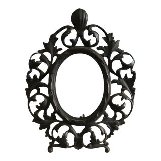 Victorian Rococo Cast Iron Picture Frame For Sale