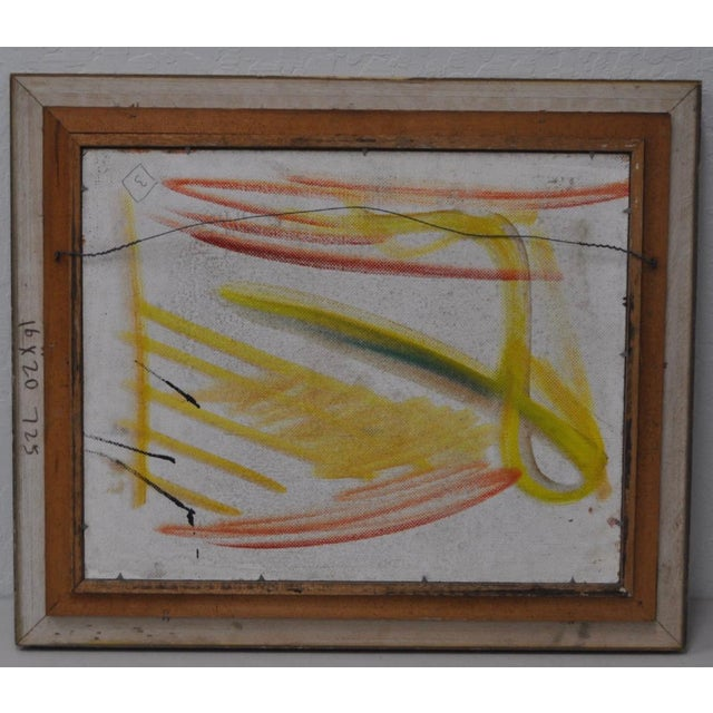 """1970s Vintage Original """"Celebration"""" Oil Painting by Pascal Cucaro For Sale - Image 5 of 5"""