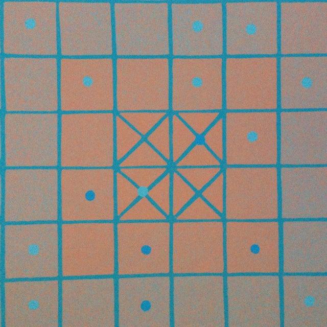 1973 Op-Art Silkscreen Signed Bay Area Artist For Sale - Image 4 of 10