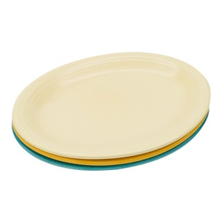 Vintage Mid-Century Fiesta Fiestaware Platters - Set of 3 For Sale