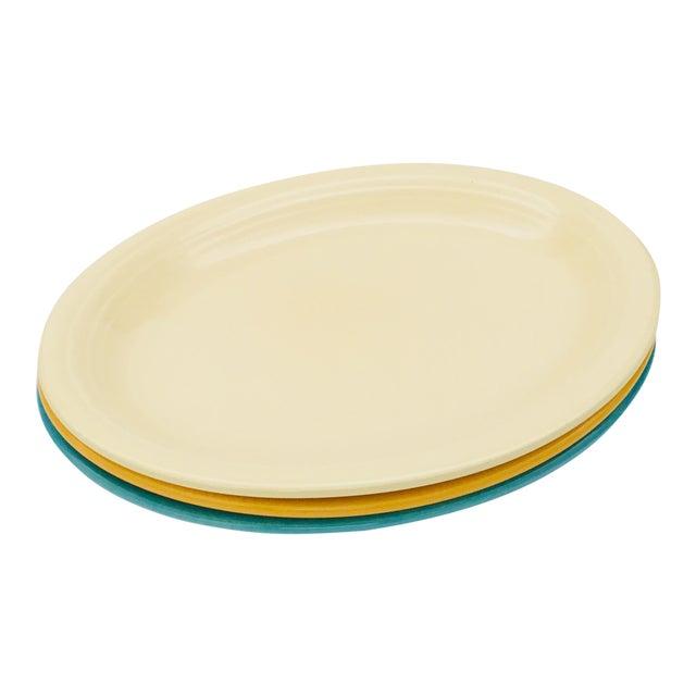 Vintage Mid-Century Fiesta Fiestaware Platters - Set of 3 For Sale