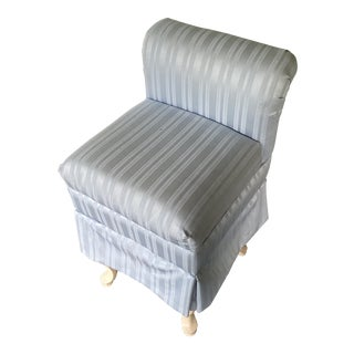 Blue Vanity Chair** For Sale