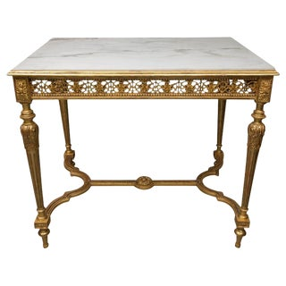 19th Century Louis XVI Style Giltwood Centre Table For Sale