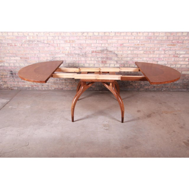Harold Schwartz for Romweber Mid-Century Modern Spider Leg Extension Dining Table, Newly Restored For Sale In South Bend - Image 6 of 13