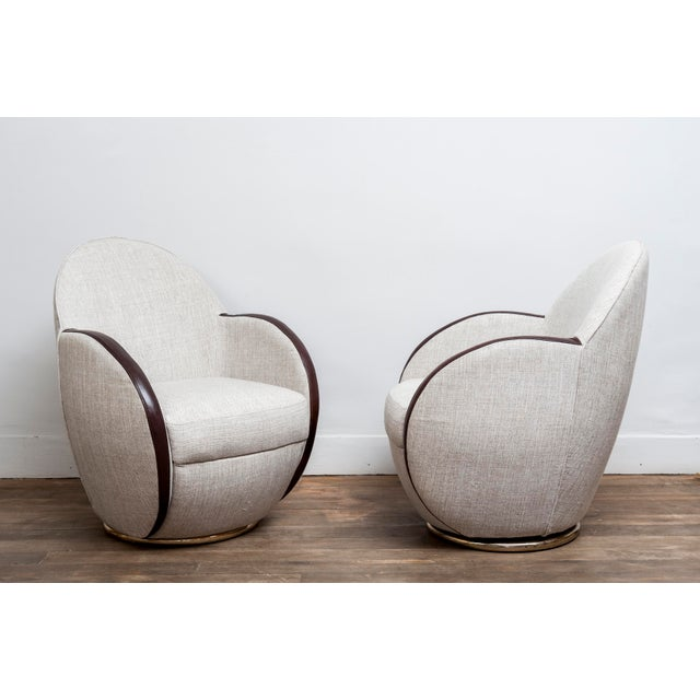 Pair of Swivel Chairs, France, 1950s For Sale - Image 10 of 10