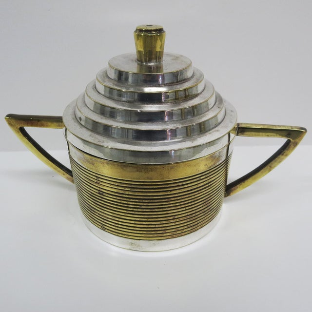 Metal Art Deco Moderne Silver Plated Coffee Service For Sale - Image 7 of 10