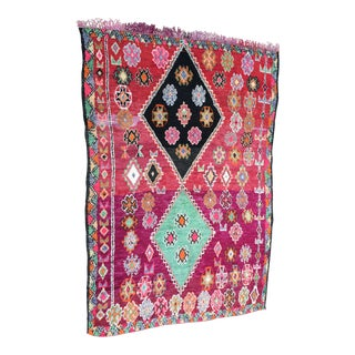 Vintage Moroccan Boujad Boujaad Beni Ourain Rug - 7′ × 10′4″ For Sale