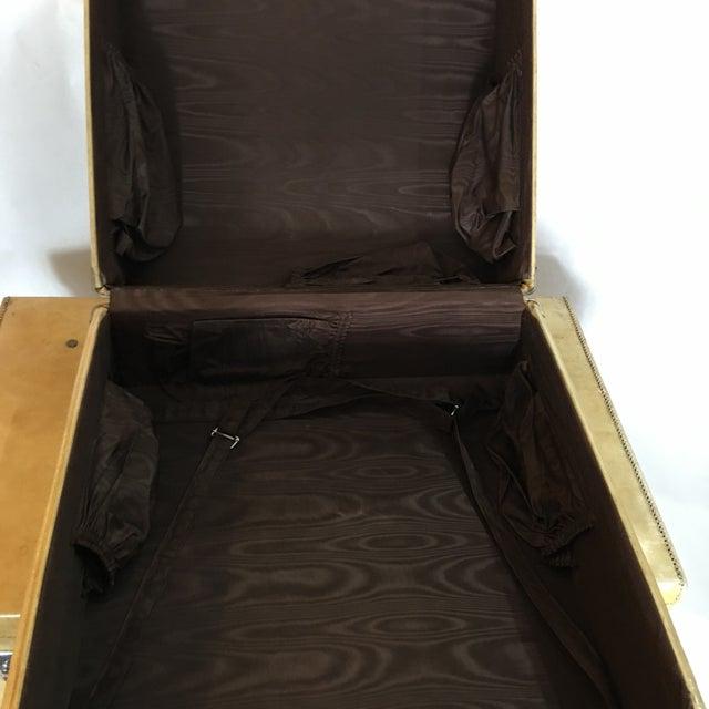 Vintage English Vellum Suitcases & Hat Box - Set of 3 - Image 9 of 11