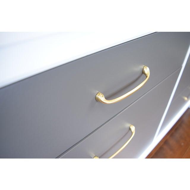 Mid-Century Modern White & Gray Dresser - Image 6 of 10