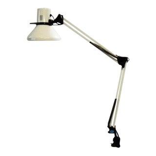 Vintage Mid-Century Industrial Desk Drafting Lamp For Sale