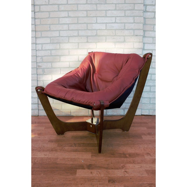 Mid Century Modern Odd Knutsen Luna Lounge Chair and Ottoman For Sale In Chicago - Image 6 of 13