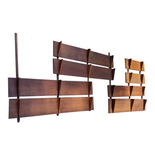 Poul Cadovius Cado Style Wall Unit 5 Bays 5 Foot Shelves For Sale