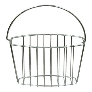Vintage Mid Century Modern Chrome Metal Wire Frame Magazine Rack For Sale