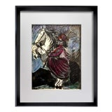 Image of Pablo Picasso Jacqueline W/ Cat Limited Edition Framed Lithograph For Sale