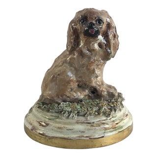 """Tiny"" Handmade Dog Spaniel Figurine For Sale"