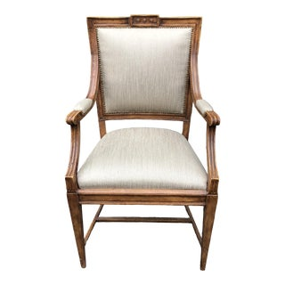 Gustavian Style Swedish Empire Arm Chair by Charles Pollock For Sale